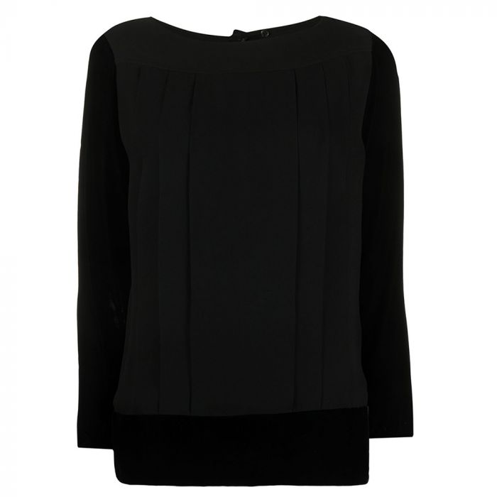 Chanel Pleated Black Top