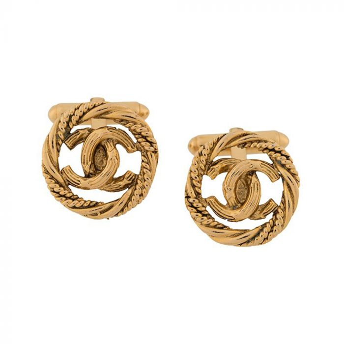 Chanel Gold Knot Cufflinks SOLD