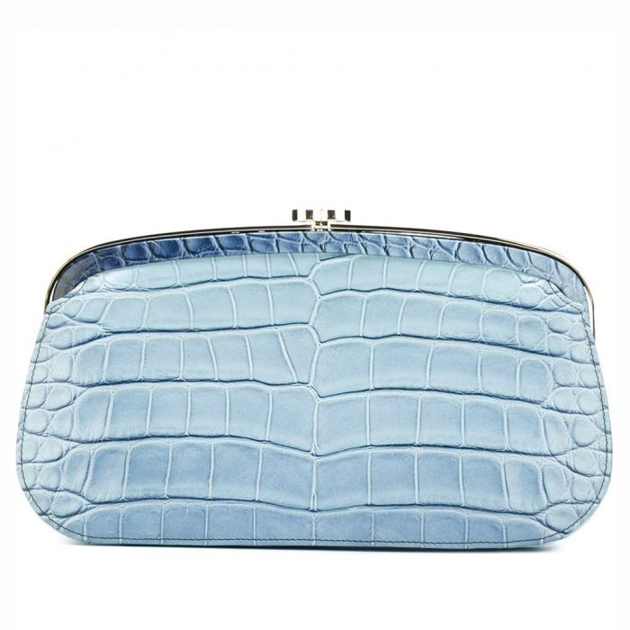 Chanel Blue Ombre Crocodile Clutch SOLD