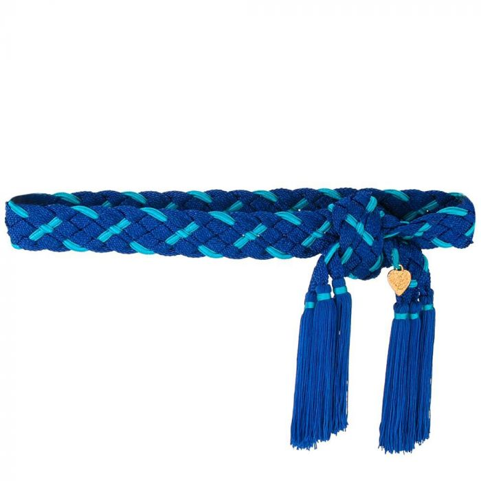 Yves Saint Laurent YSL Rive Gauche Blue Belt