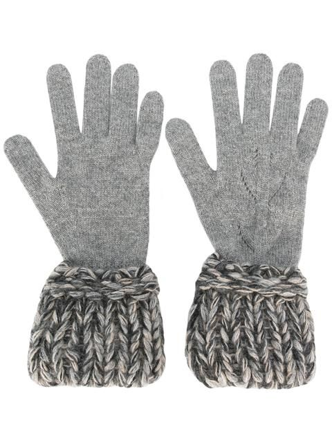 Chanel Grey Wool Gloves SOLD