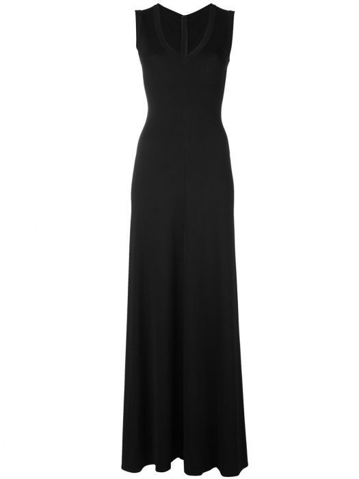 Alaia Long Black Sleeveless Dress