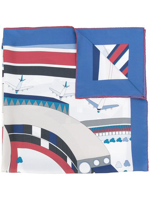 Chanel Planes-Printed Silk Scarf SOLD