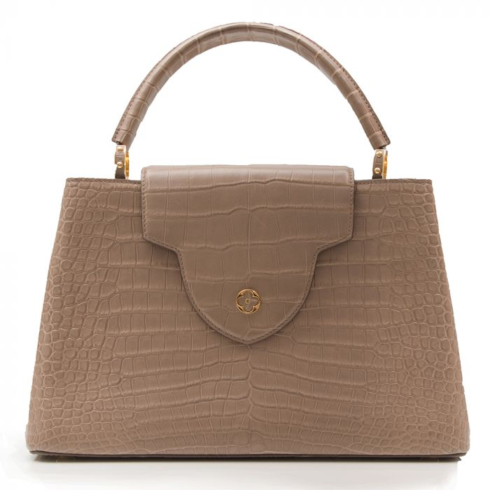 Louis Vuitton Matte Beige Crocodile Capucines Tote Bag SOLD