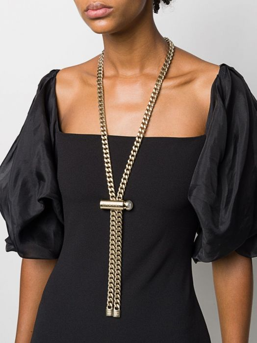 Chanel Curb Chain Bullet Necklace