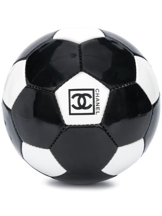 Chanel Black Leather Football limited edition