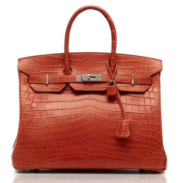 Hermes Sanguine Orange Niloticus Crocodile 35cm Birkin SOLD