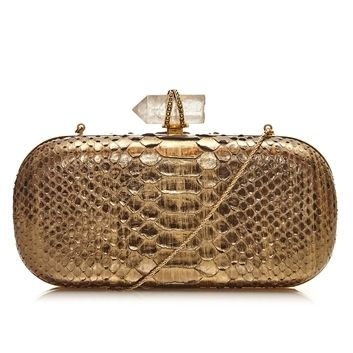 Marchesa Snake and Crystal Clutch