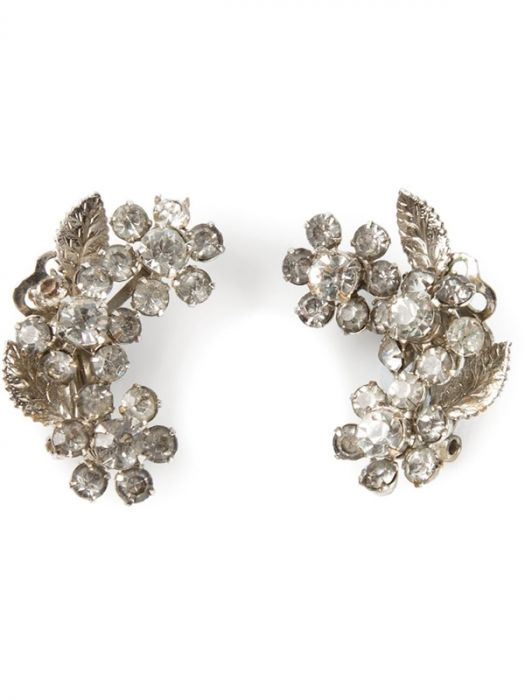 1950s Vintage Clip-On Floral Earrings