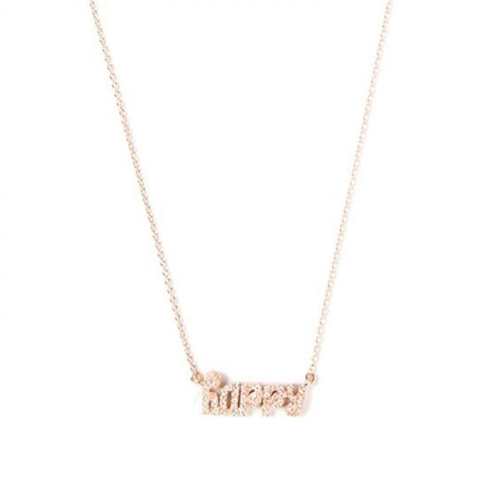 18K Rose Gold and Diamond Happy Necklace
