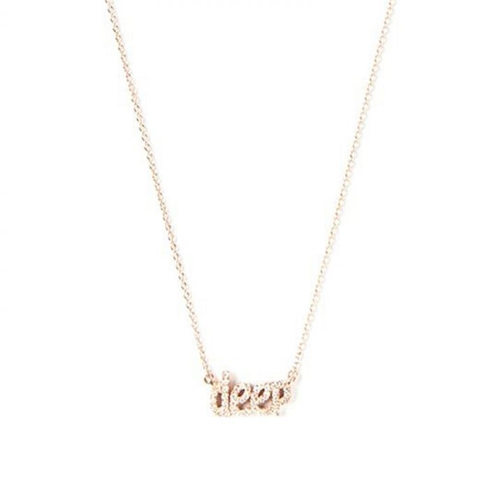 18K Rose Gold and Diamond Deep Necklace