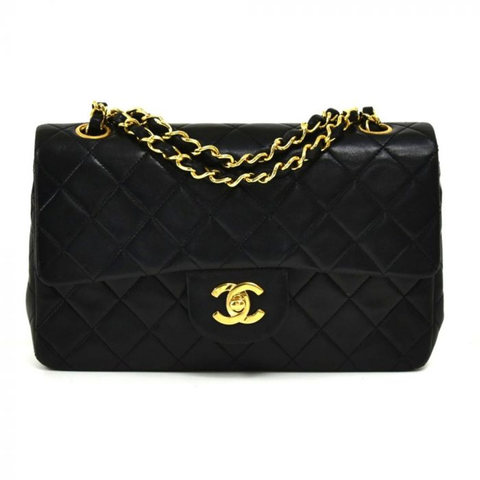 Chanel Classic Quilted Double Flap Black Bag