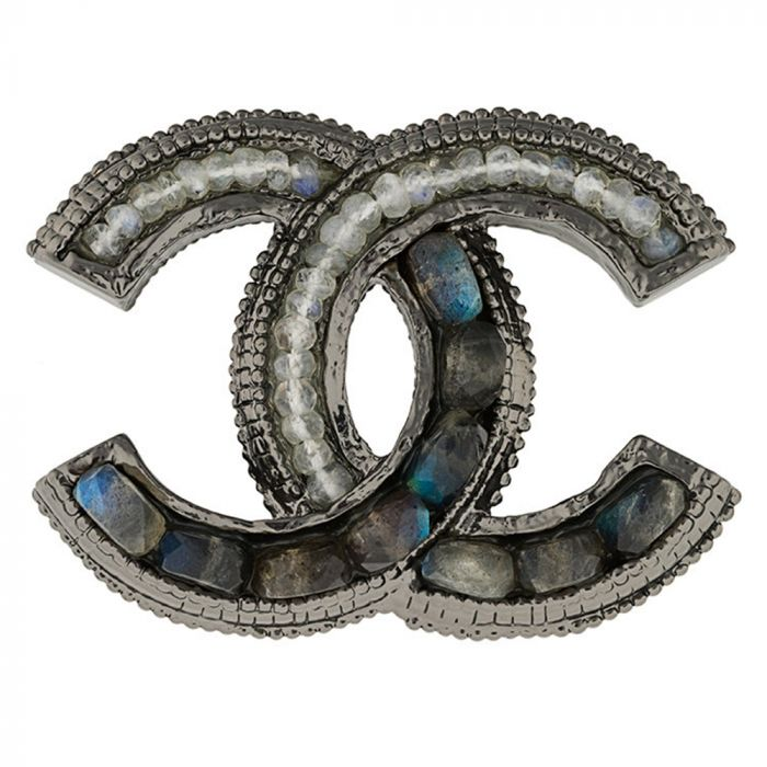 Chanel CC Stone Brooch