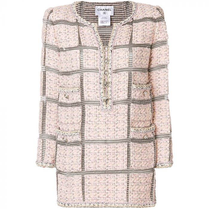 Chanel Pink Tweed Tunic Dress SOLD