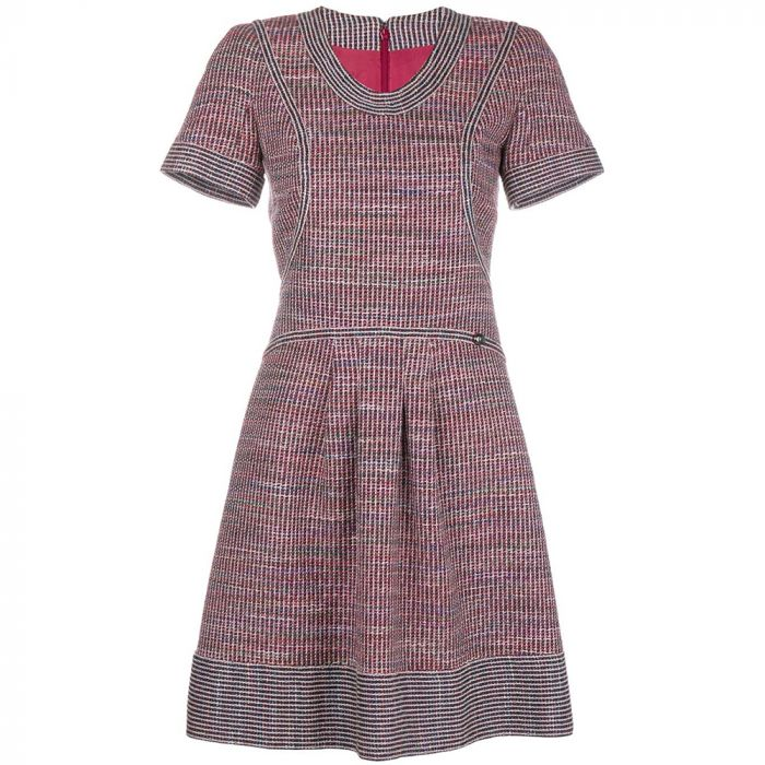 Chanel Red Tweed Dress SOLD