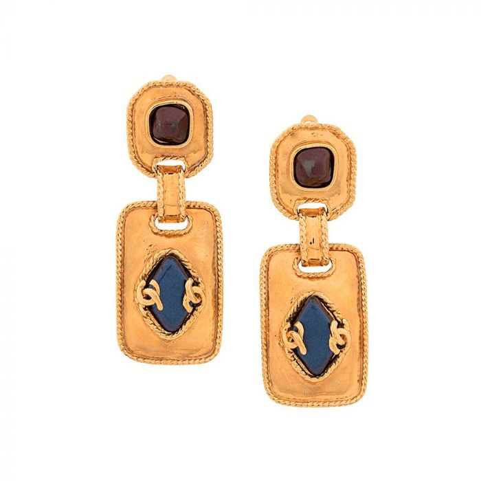 Chanel Stone Embellished Earrings