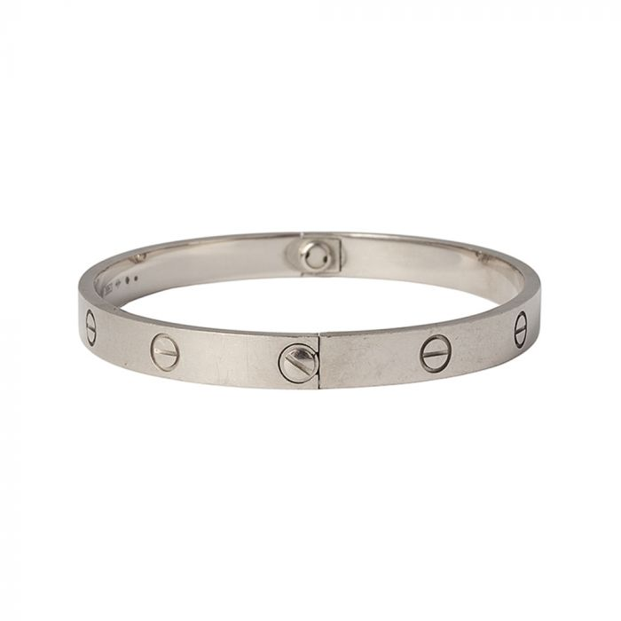 Cartier White Gold Love Bracelet SOLD