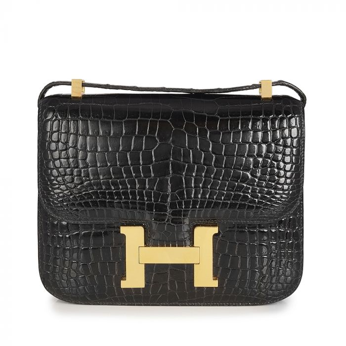 Hermes Black Crocodile Constance Bag SOLD