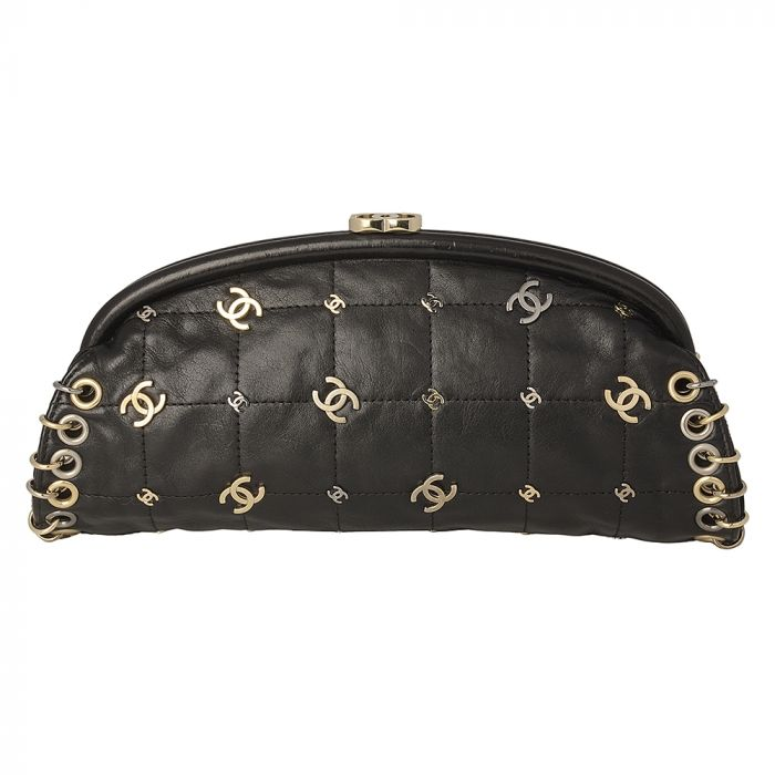 Chanel Black Pochette with Rings SOLD
