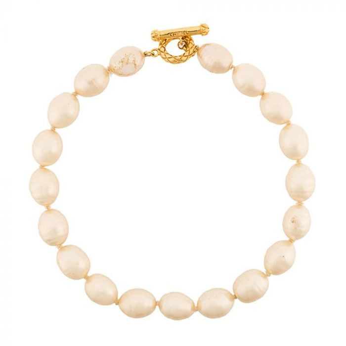 Chanel Baroque Faux-Pearl Choker Necklace SOLD