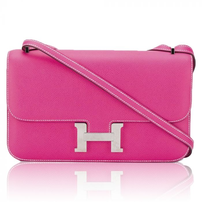 Hermès Tyrien Pink Epsom Leather Constance Elan Bag SOLD