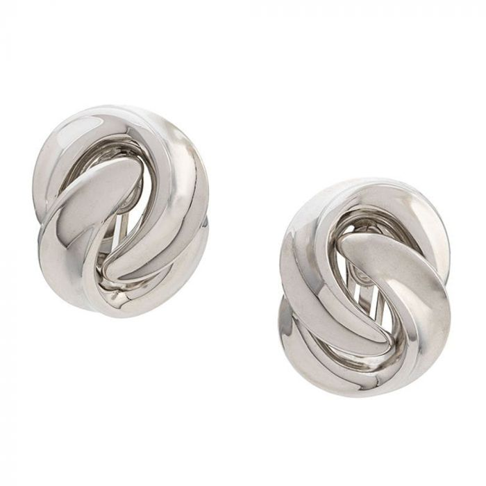 Dior Silver Twisted Earrings SOLD