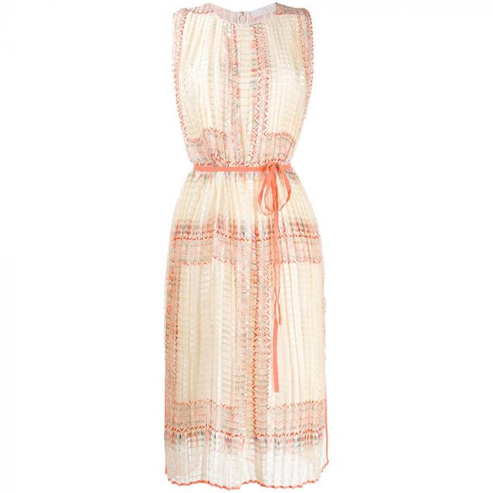 Chloe Pleated Midi Dress
