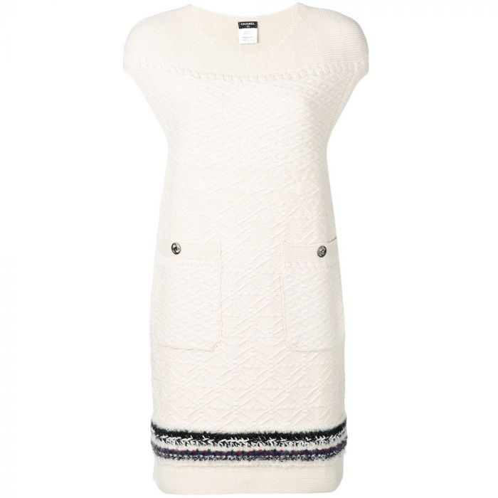Chanel Cashmere Textured Dress