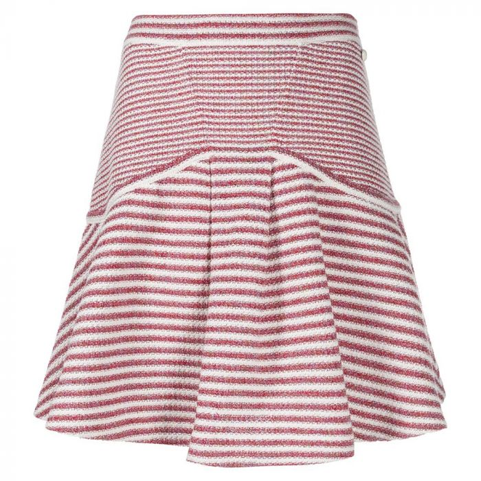 Chanel Striped Knit Skirt