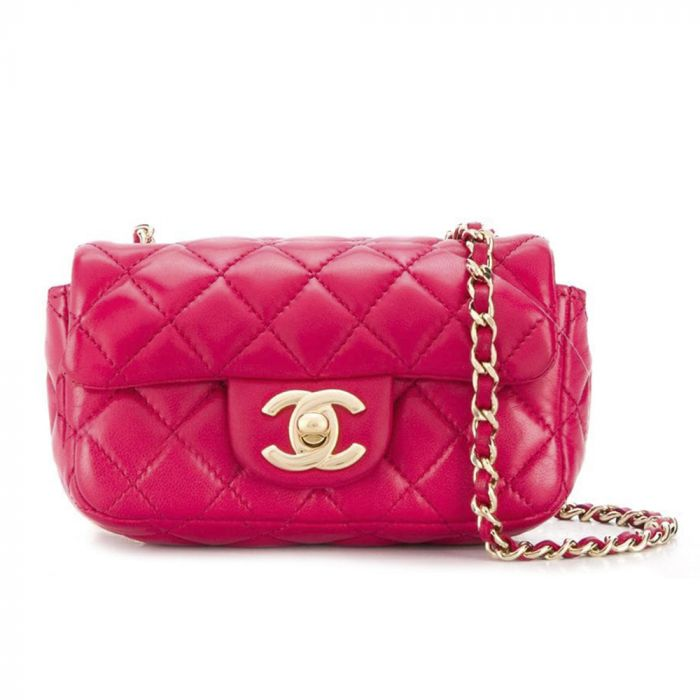 Chanel Red Quilted Charm Mini Crossbody Bag SOLD