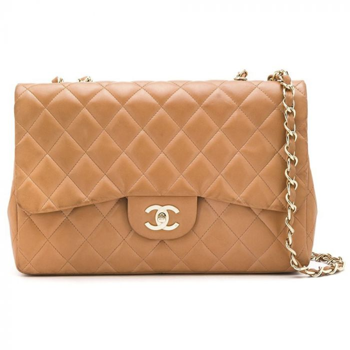 Chanel Tan Jumbo Flap Bag SOLD