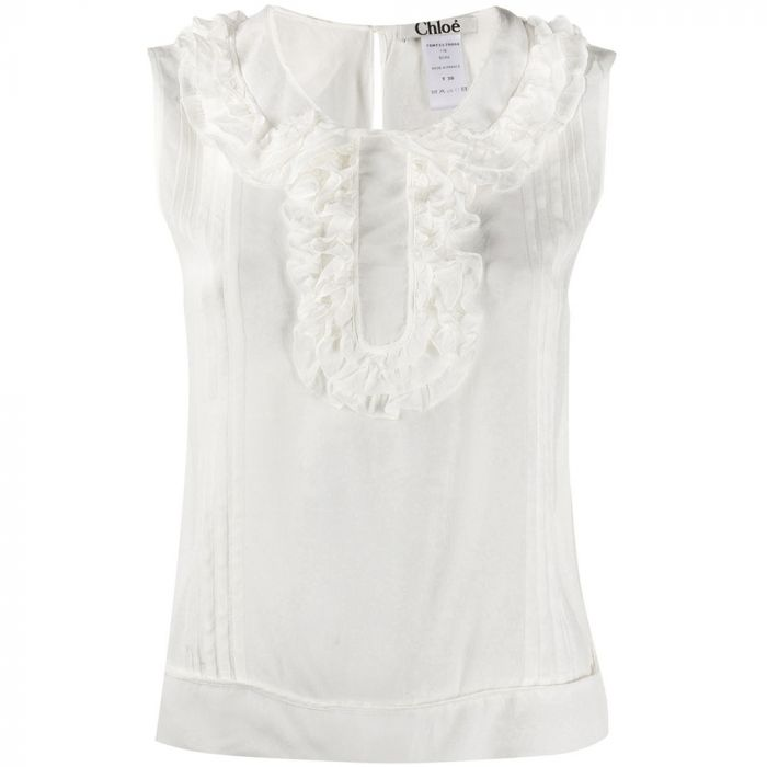 Chloe Ecru Sleeveless Top