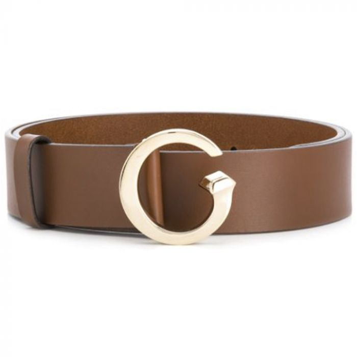 Gucci Brown G Buckle Leather Belt
