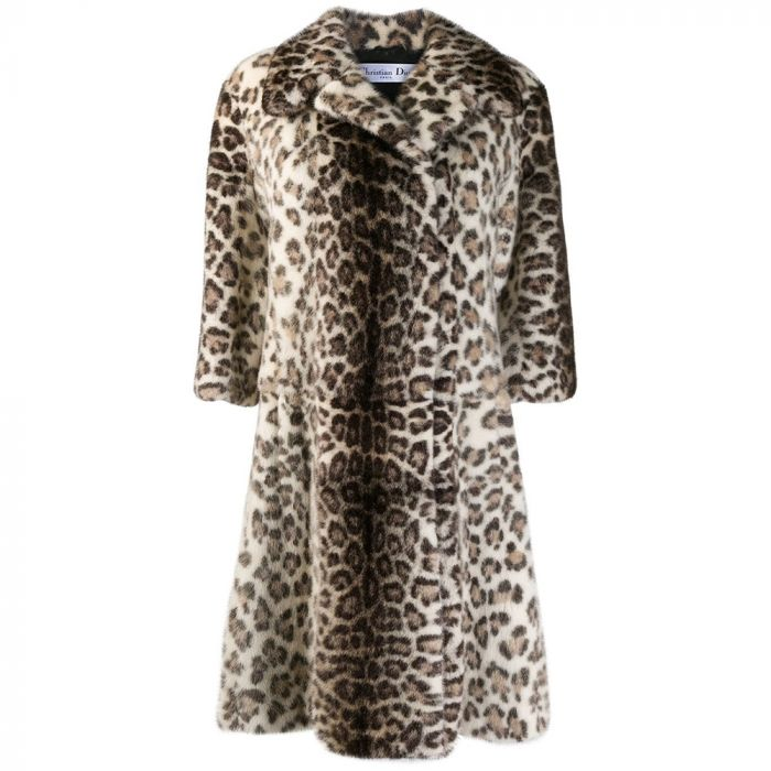 Dior Leopard Mink Fur Coat SOLD