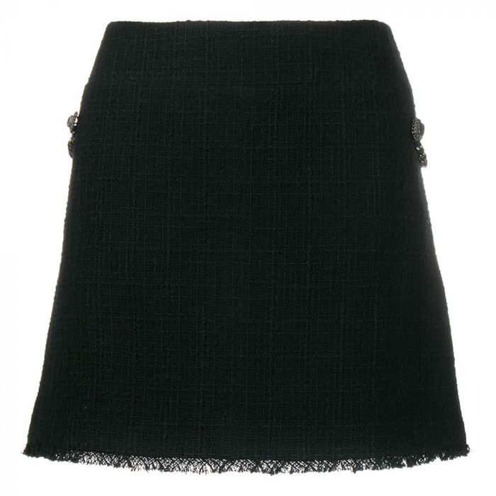 Chanel Black Chain Embellished Mini Skirt SOLD