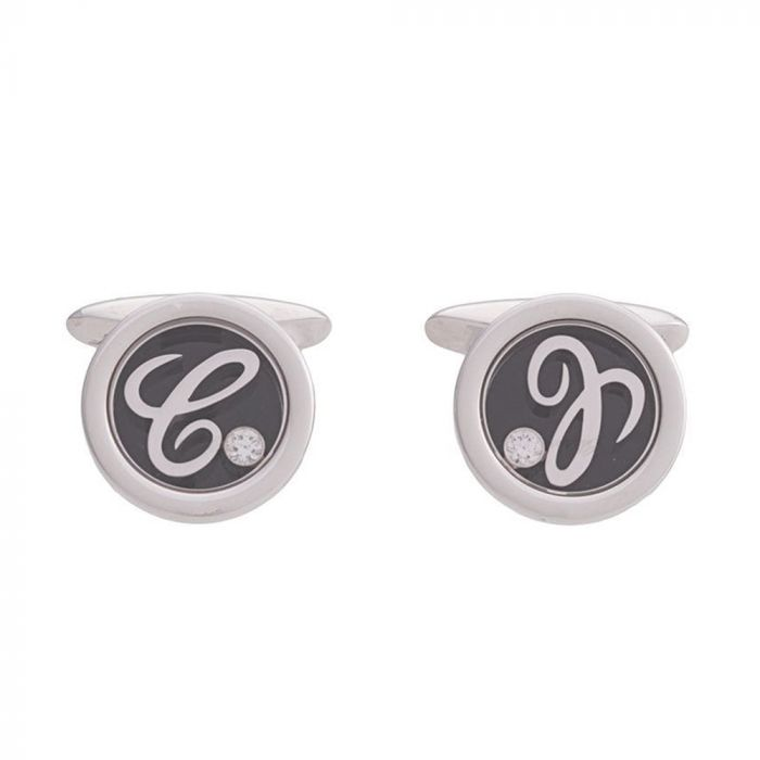 Chopard 'Happy' White Gold and Diamond Cufflinks
