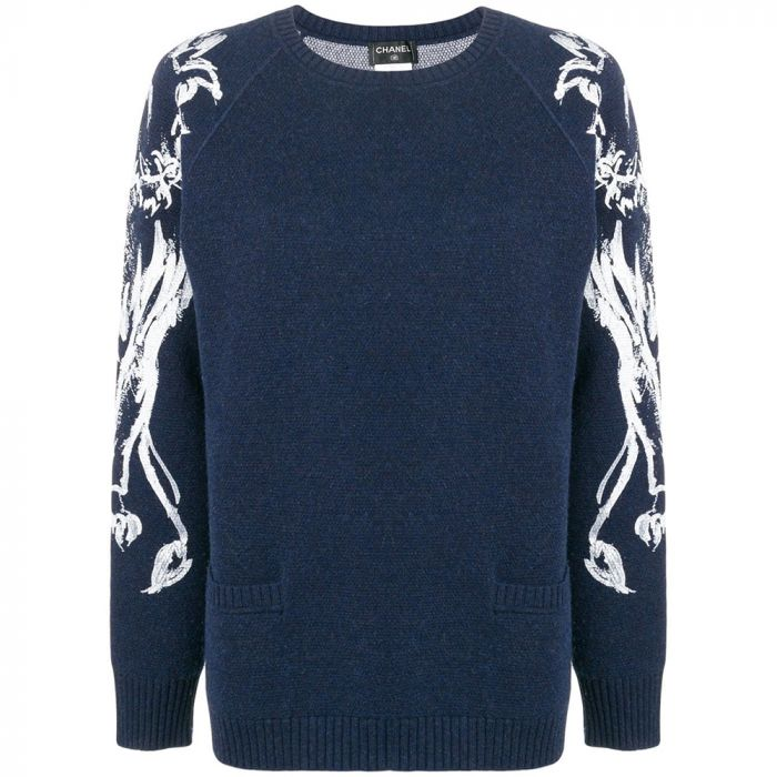 Chanel Lion Brush Print Jumper