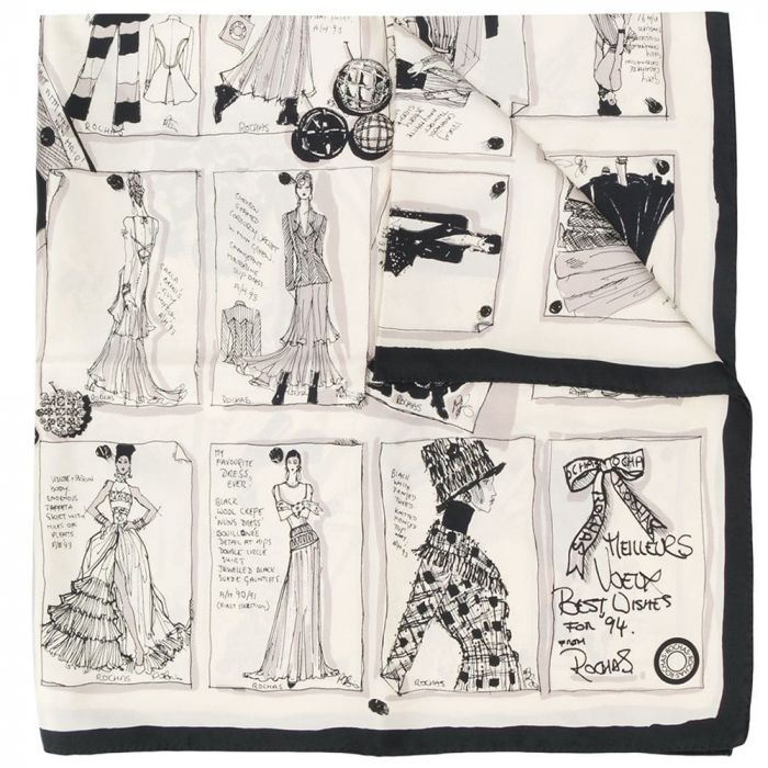 Rochas Silk 'Fashion Motif' Print Scarf SOLD