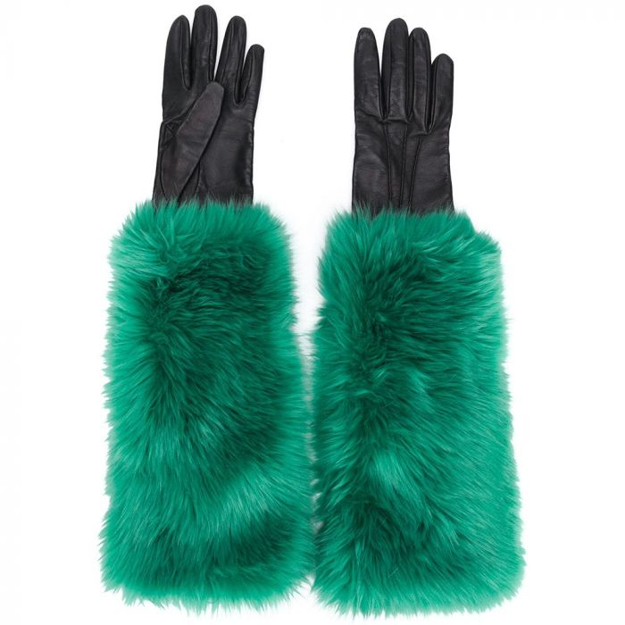 Prada Faux Fur Lined Gloves