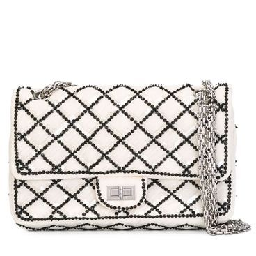 Chanel Black and White Sequinned 2.55 Reissue Flap Shoulder Bag SOLD