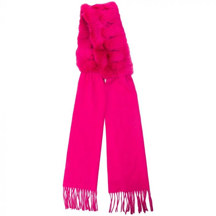 Two-Texture Fur Scarf