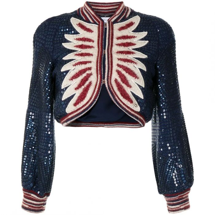 Wool 2014 Pre-Fall Paris Dallas Collection Cropped Cardigan