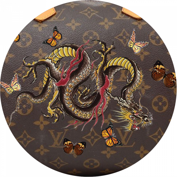 Bag Customisation Chinese Dragon and Butterflies