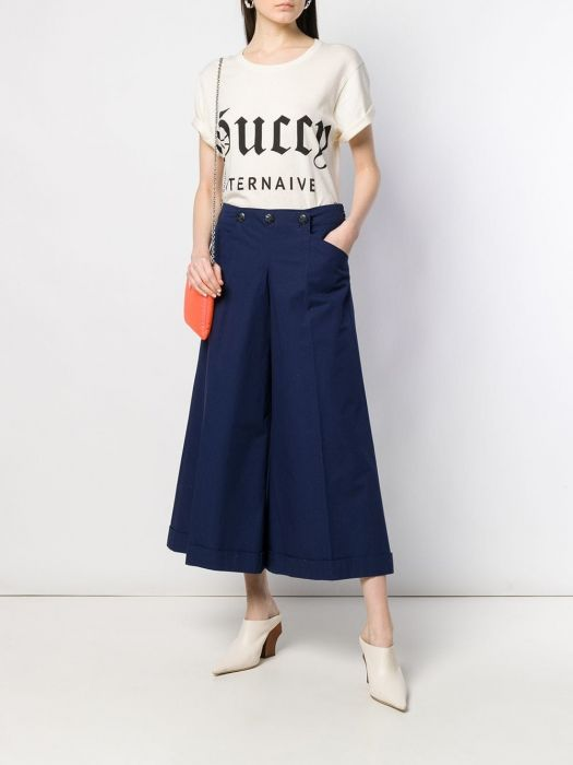 Chanel Wide Cropped Navy Culottes SOLD