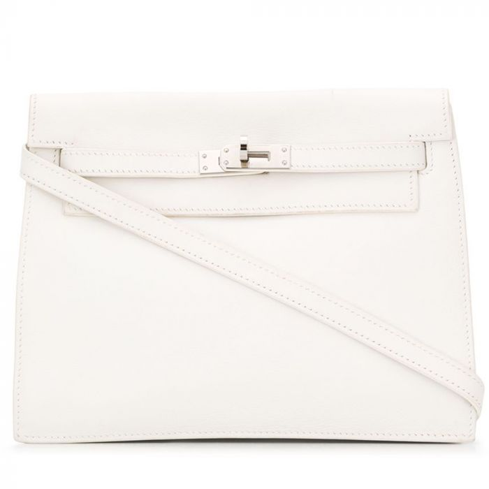 Hermès White Swift Kelly Danse Bag SOLD