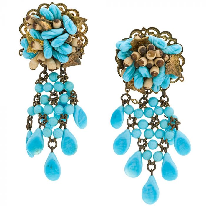 Vintage 1950s Beaded Earrings
