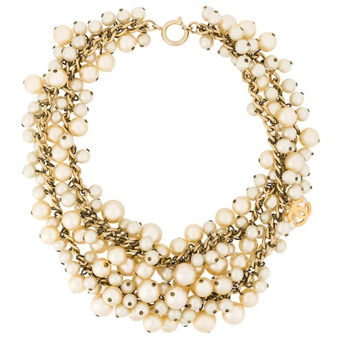 Chanel Pearl Cluster Necklace SOLD