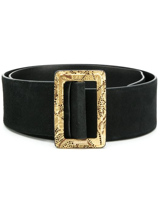 Chanel Black Suede Belt