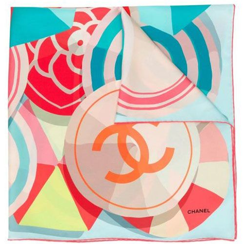 Chanel CC Graphic Print Scarf