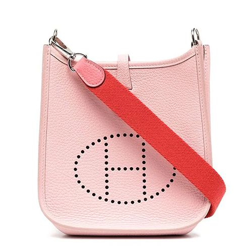 Hermès Evelyne Cross Body Bag in Pink Sakura